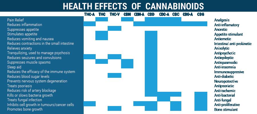 Gezondheidseffecten van cannabinoïden THC en THC