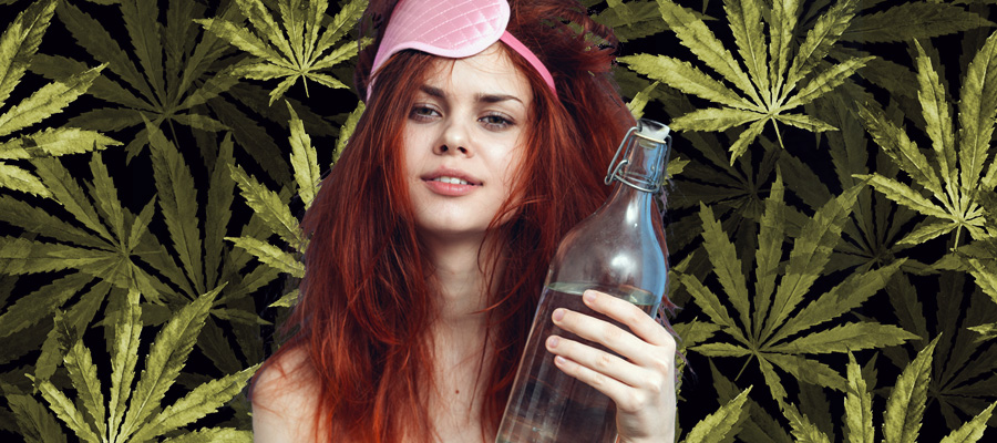 kater hydratatie water cannabis weed