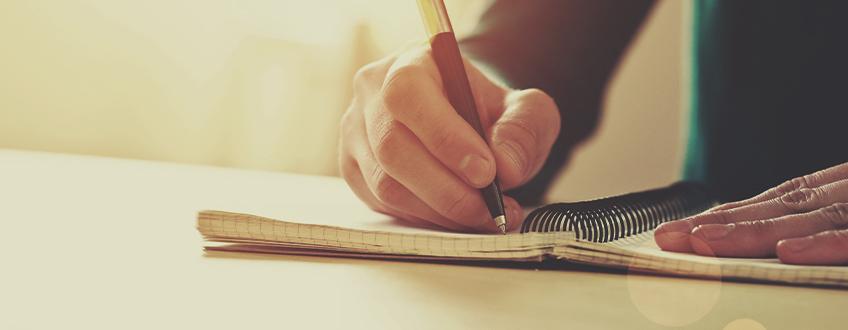 Sla aan het Schrijven
