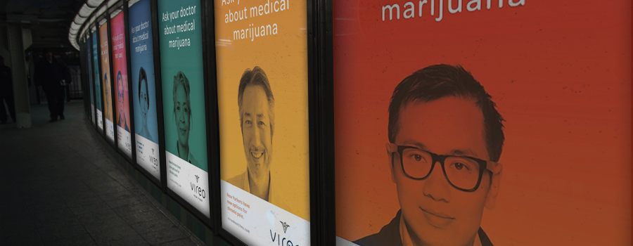 Campagne cannabis metro New York