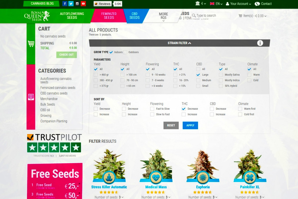 Wij Introduceren De Royal Queen Seeds Cannabis Strain Finder!